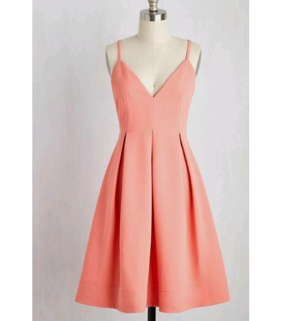 Midi askılı elbise byz-a100120