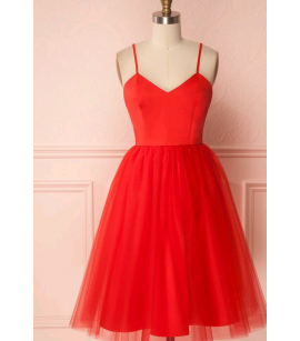 Midi askılı  elbise byz-a100111